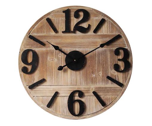 Relógio de Parede Estella - Marrom e Preto, Preto, Marrom   WestwingNow