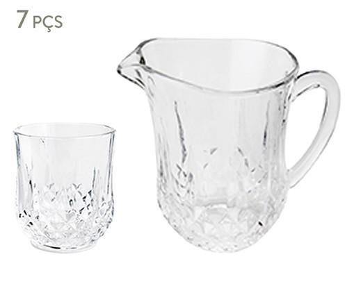 Jogo de Jarra e Copos em Cristal Imperial - Transparente, Preto | WestwingNow