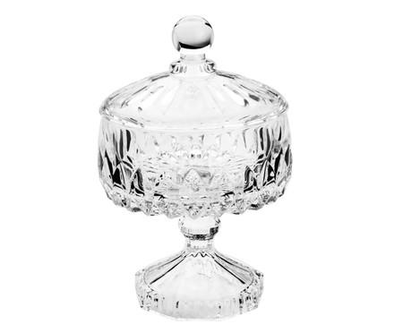 Bomboniere com Pé em Cristal Lu - Transparente | WestwingNow
