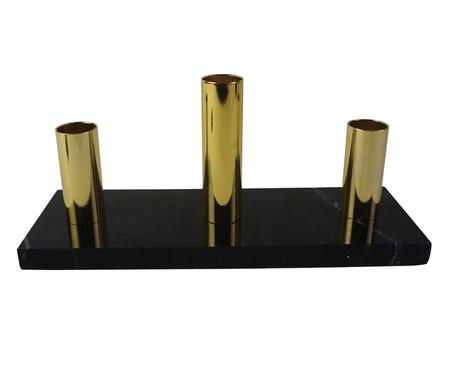Candelabro Decorativo de Metal Carole - Dourado e Preto | WestwingNow
