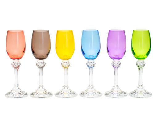 Jogo de Taças para Licor em Cristal Zila - Colorido, Multicolorido | WestwingNow