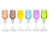 Jogo de Taças para Licor em Cristal Zila - Colorido | WestwingNow