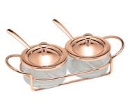 Jogo para Servir Geleia em Inox Italy Rosê | WestwingNow