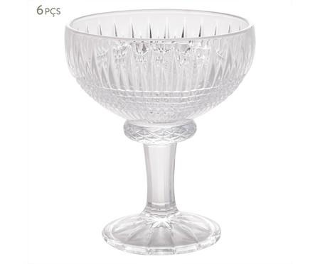 Jogo de Taças para Sobremesa em Cristal Queen - Transparente | WestwingNow