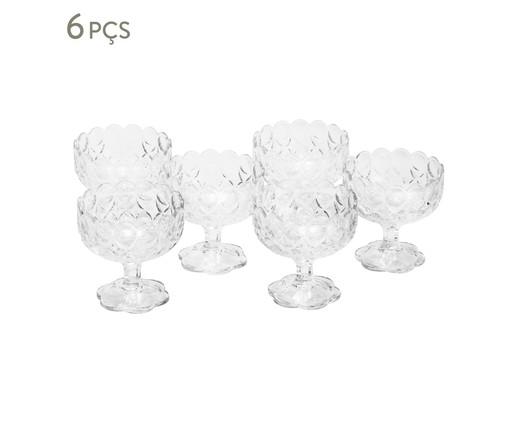 Jogo de Taças para Sobremesa com Pé em Cristal Angélica - Transparente, Transparente   WestwingNow