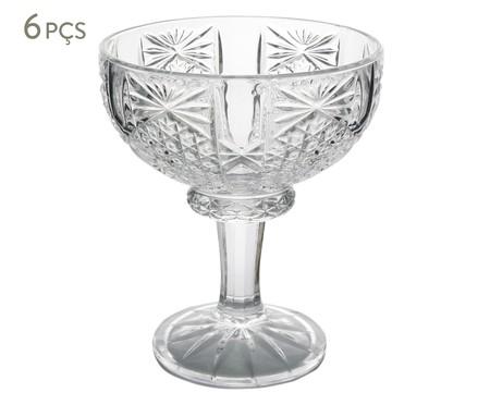 Jogo de Taças para Sobremesa em Cristal Princess - Transparente | WestwingNow