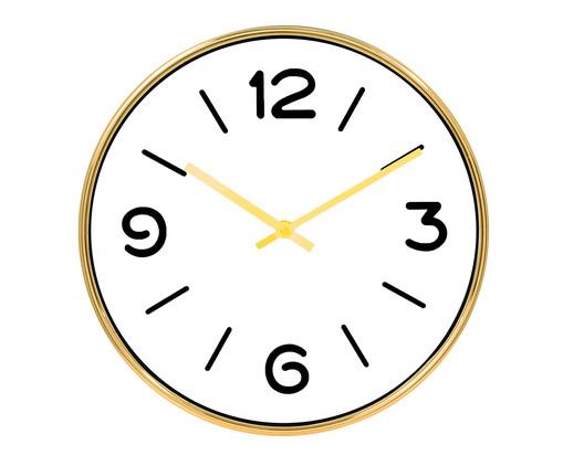 Relógio de Parede Clare - Dourado, Branco, Dourado | WestwingNow