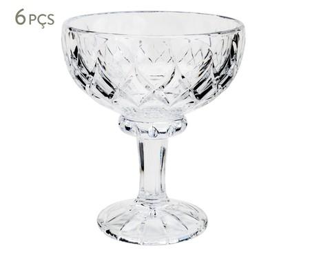 Jogo de Taças em Cristal para Sobremesa Angel - Transparente | WestwingNow