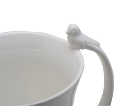 Caneca em Porcelana Birds - Branca | WestwingNow