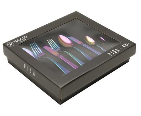 Faqueiro em Inox Pisa Rainbow - 06 Pessoas | WestwingNow