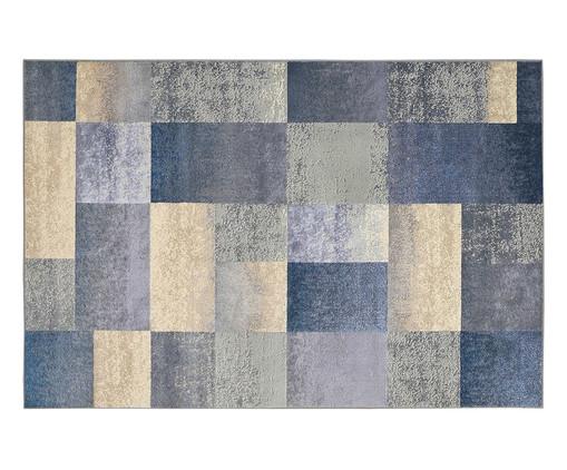 Tapete Geométrico Supreme Quadros - Azul, Azul e Bege | WestwingNow