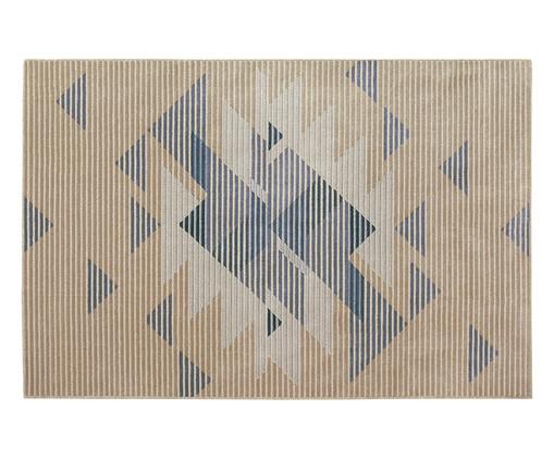 Tapete Supreme Piramides, Azul e Bege | WestwingNow