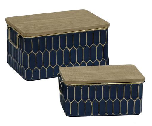 Jogo de Caixas Ashira - Azul e Marrom, Azul | WestwingNow