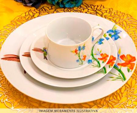 Jogo de Jantar em Porcelana Liz Branco - 04 Pessoas | WestwingNow