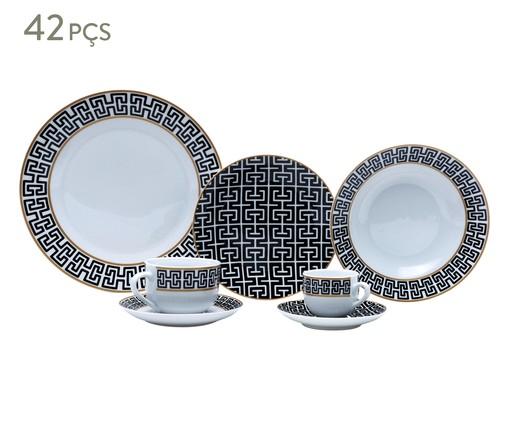 Jogo de Jantar em Porcelana Amy 06 Pessoas - Preto e Branco, Preto e Branco | WestwingNow