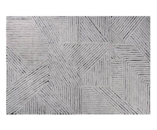 Tapete Black Chia em Lã Natural - Cinza, Cinza   WestwingNow