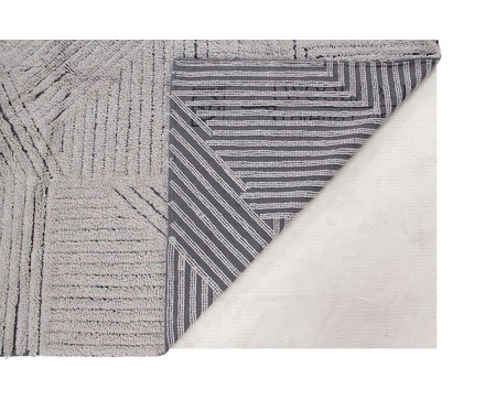 Tapete Black Chia em Lã Natural - Cinza | WestwingNow