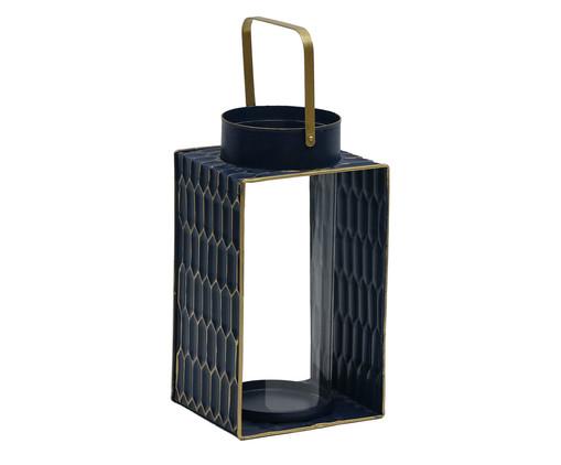 Lanterna Ashira - Azul e Dourada, Preto | WestwingNow