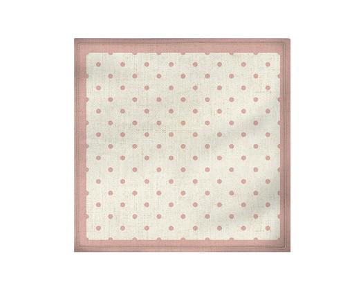 Guardanapo de Tecido Poá Sophi - Rosa, Rosa,Branco | WestwingNow
