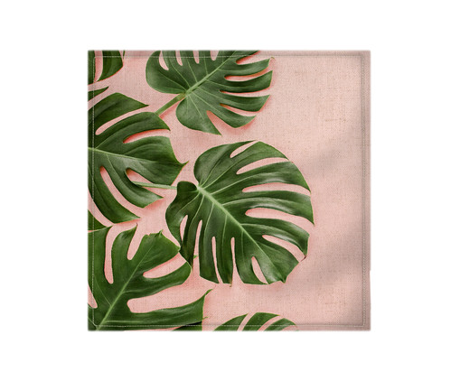 Guardanapo em Linho Eva - Rosa e Verde, Branco | WestwingNow
