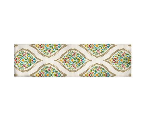 Caminho de Mesa em Linho Misto Adena - Estampado, Multicolorido | WestwingNow