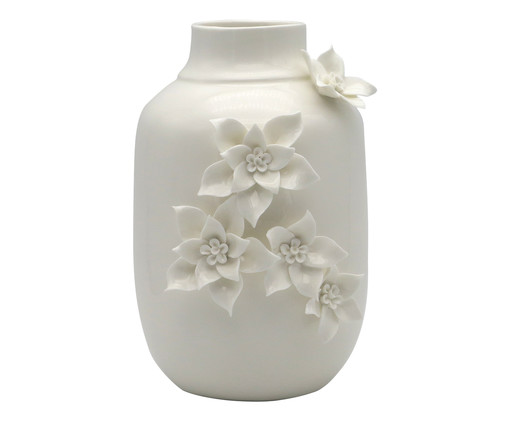 Vaso Flowers - Branco, Branco   WestwingNow
