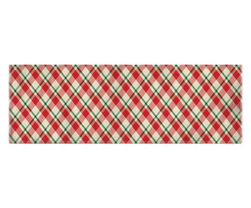 Caminho de Mesa em Linho Misto Tari - Estampado, Vermelho e Branco | WestwingNow