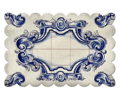 Lugar Americano Lill - Estampado, Branco,Azul | WestwingNow