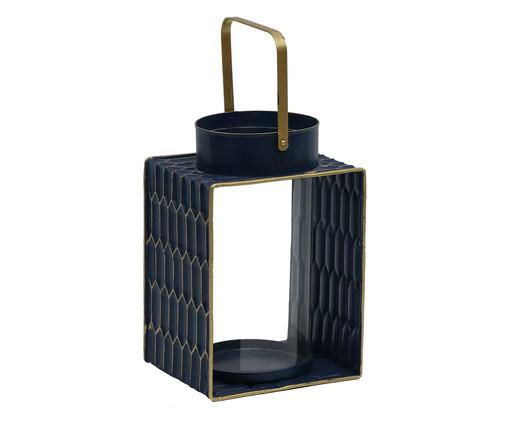 Lanterna Ashira Aya - Azul e Dourado, Preto | WestwingNow