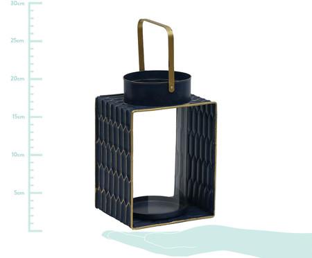 Lanterna Ashira Aya - Azul e Dourado | WestwingNow