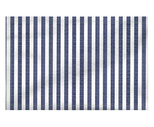 Lugar Americano em Linho Misto Frida - Estampado, Branco,Azul | WestwingNow