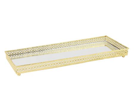 Bandeja Espelhada de Vidro Michael - Dourada | WestwingNow