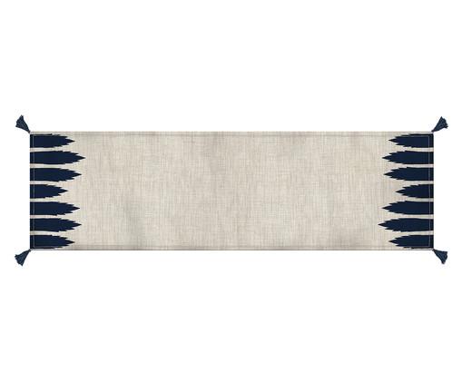 Caminho de Mesa em Ubana - Off White e Azul, Multicolorido | WestwingNow