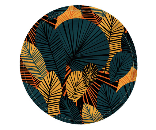 Lugar Americano Redondo de Algodão Gai - Estampado, Multicolorido | WestwingNow
