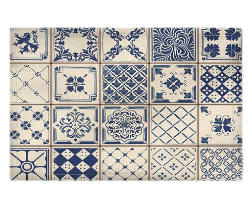Lugar Americano em Linho Canan - Azul e Branco, Multicolorido | WestwingNow