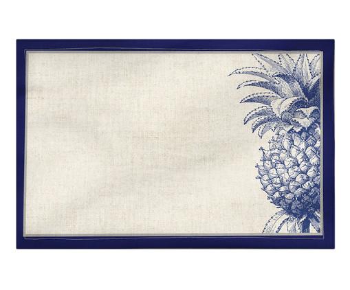 Lugar Americano Lovy - Estampado, Branco,Azul | WestwingNow