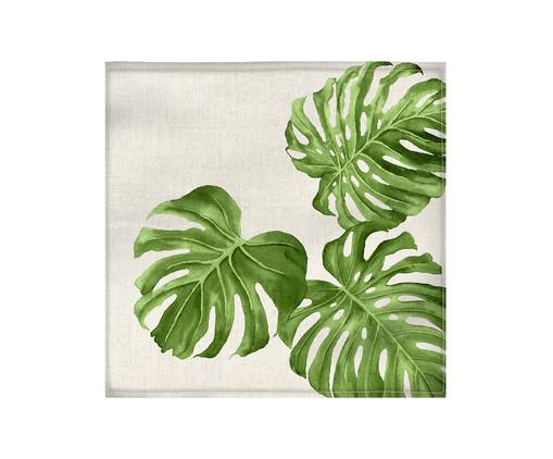 Guardanapo de Tecido Adão - Off White e Verde, Multicolorido | WestwingNow