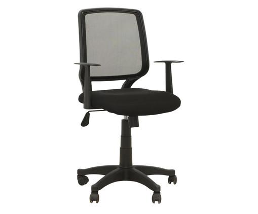 Cadeira de Escritório com Rodízios Ávila - Preta, Preto | WestwingNow