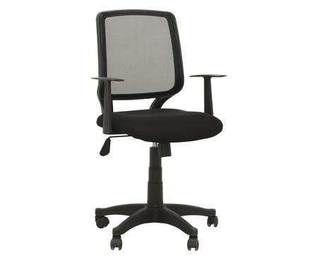 Cadeira de Escritório com Rodízios Ávila - Preta | WestwingNow