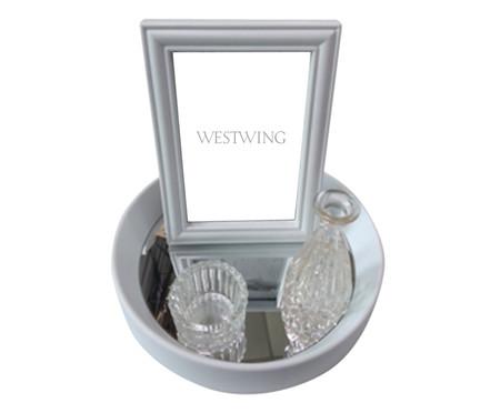 Jogo de Bandeja e Porta-Retrato Visions - Branco | WestwingNow