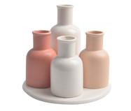 Jogo de Vasos em Porcelana Cute  - Rosa | WestwingNow