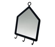 Espelho com Gancho Home Mirror - Preto | WestwingNow
