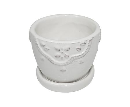 Cachepot Soft Flowers - Branco | WestwingNow