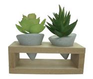 Vaso com Planta Permanente Support Cone - Cinza | WestwingNow