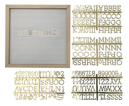 Quadro Alfabeto - Dourado | WestwingNow