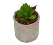 Vaso com Planta Permanente Marble - Rosa | WestwingNow