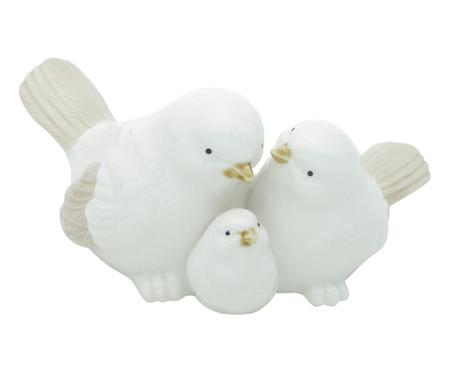Adorno Bird Parents And Baby - Branco | WestwingNow