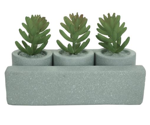 Jogo de Cachepots com Planta Permanente Plants - Cinza, Cinza   WestwingNow