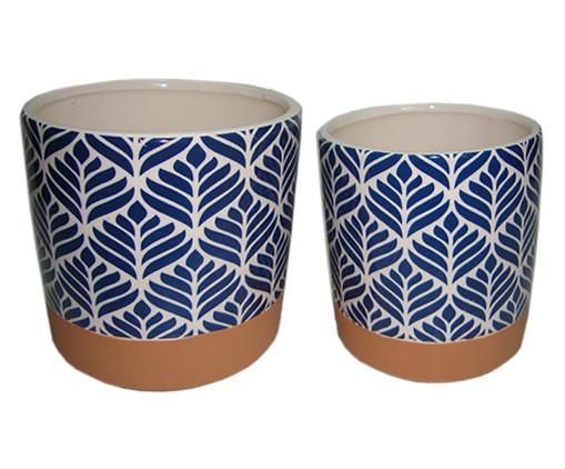 Jogo de Potes Ziva - Azul e Branco, Branco, Azul | WestwingNow