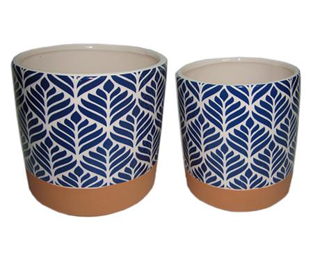 Jogo de Potes Ziva - Azul e Branco | WestwingNow